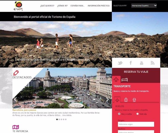Portal oficial de Turismo de España