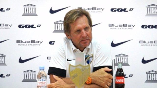 Bernd Schuster, entrenador del Málaga