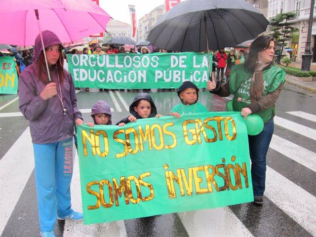 Manifestación por la educación pública en Santander