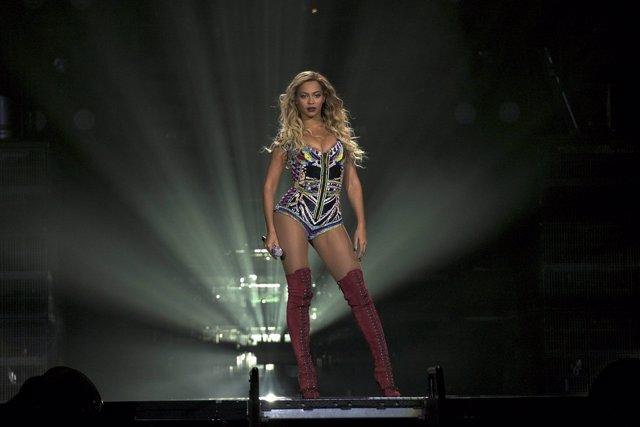 Beyonce, en Barcelona durante la gira Mrs. Carter World Tour