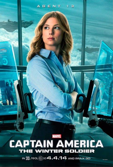 Capitán América poster Agente 13