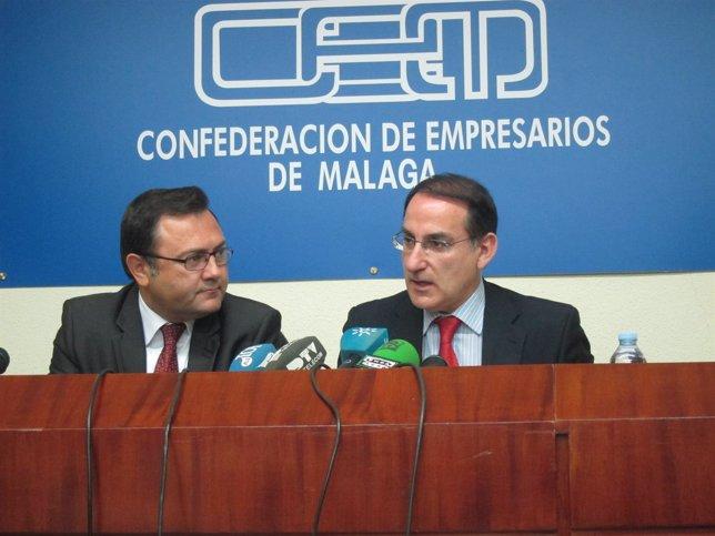Miguel Angel HEredia PSOE y Javier González de Lara CEA presidente CEM