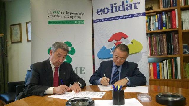 Cepyme Aragón y Solidar favorecerán la inserción de personas discapacitadas