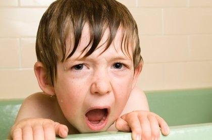Niños a los que no les gusta lavarse