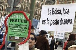 Manifestación Rodea el capital en la bolsa