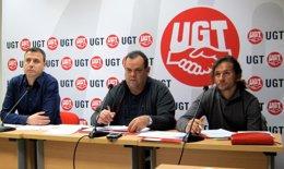 Jesús Laín, Antonio Gómez, Ángel Rubio, UGT