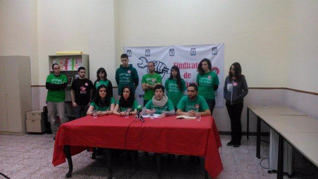 Rueda de prensa Sindicato de Estudiantes