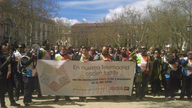 Trabajadores de Telemadrid afectados por el ERE