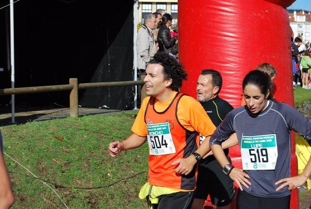 Agustín Hernández en la carrera pedestre de Ames