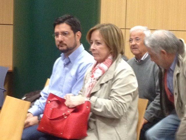 Ignacio Blanco y Marga Sanz en la audiencia previa
