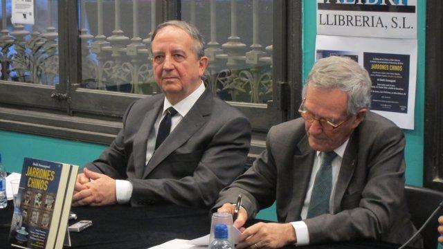 Senador del PNV Iñaki Anasagasti y alcalde de Barcelona, Xavier Trias