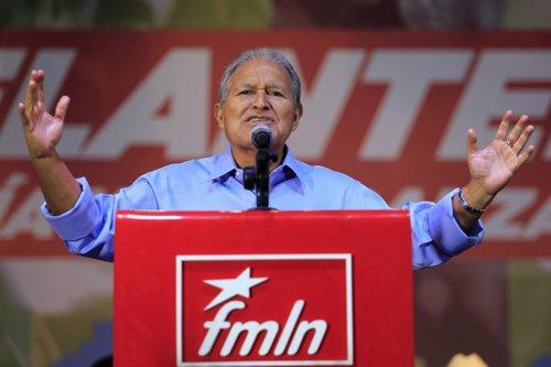 Salvador Sanchez Ceren, presidente candidato de FMLN en El Salvador