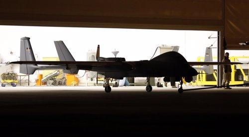 Ejemplo de drone o vehículo aéreo no tripulado o UAV en inglés