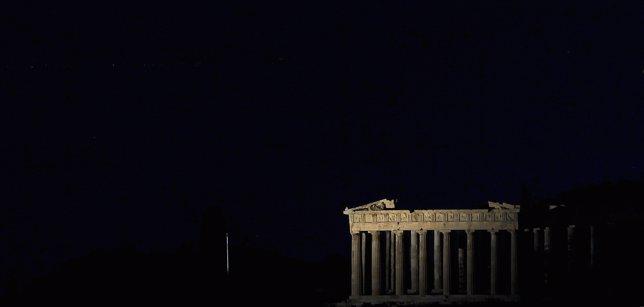 Hora del planeta en el Partenón