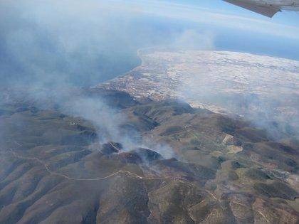 Extinguido el incendio de la Sierra de Gádor
