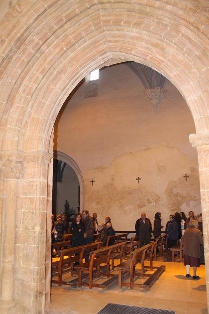 La iglesia de San Miguel de Tarazona recupera la Puerta de la Bendición