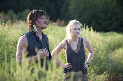 Daryl Dixon (Norman Reedus) y Beth Greene (Emily Kinney) The Walking Dead