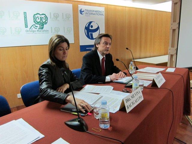 Jesús Lizcano y Silvina Bacigalupo, de Transparencia Internacional-España