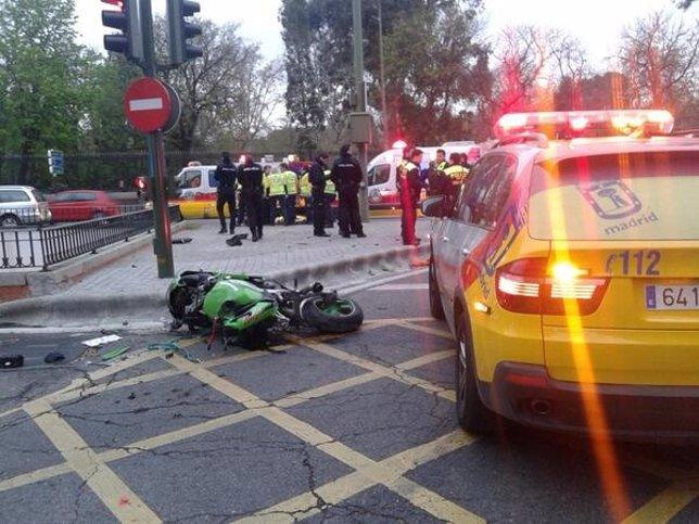 Estado de la motocicleta tras el accidente