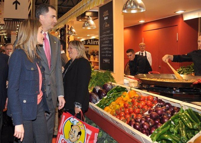 Los Príncipes de Asturias en Alimentaria