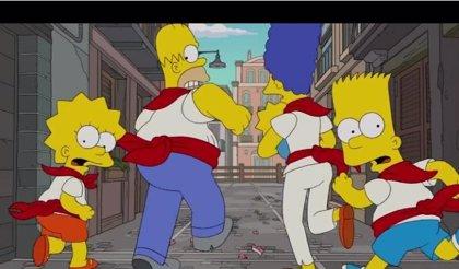 Los Simpson corren en los San Fermines en su nueva cabecera