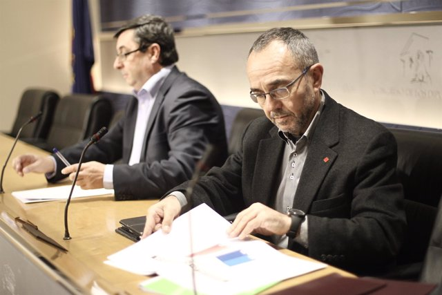José Luis Centella y Joan Coscubiela, de Izquierda Plural