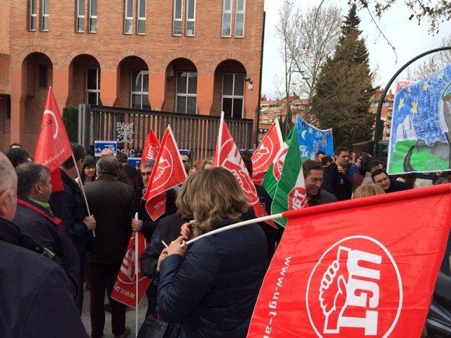 Protesta de los trabajadores del observatorio de Calar Alto