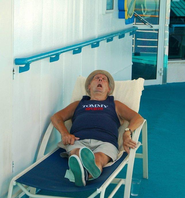 Mayor, anciano, dormir, dormido, durmiento, vejez, tumbona