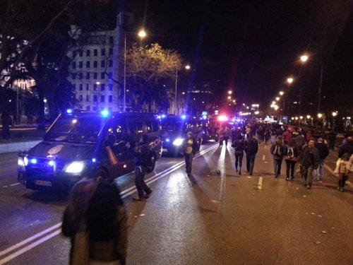 Cargas policiales en Colón