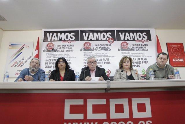 Cándido Méndez, Ignacio Fernández Toxo Y Julio Salazar