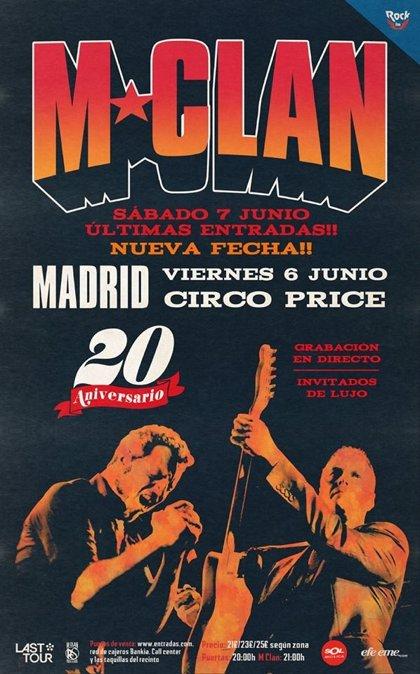 M Clan harán doblete en Madrid para celebrar su 20 aniversario