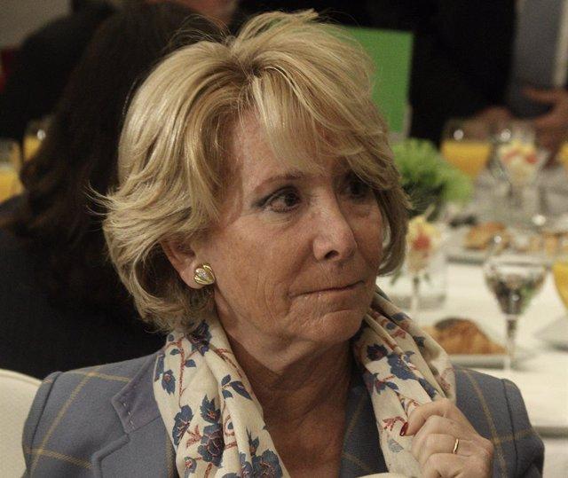 Esperanza Aguirre, Desayuno de Europa Press