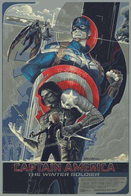 Impresionante póster Mondo de Capitán América: El soldado de invierno