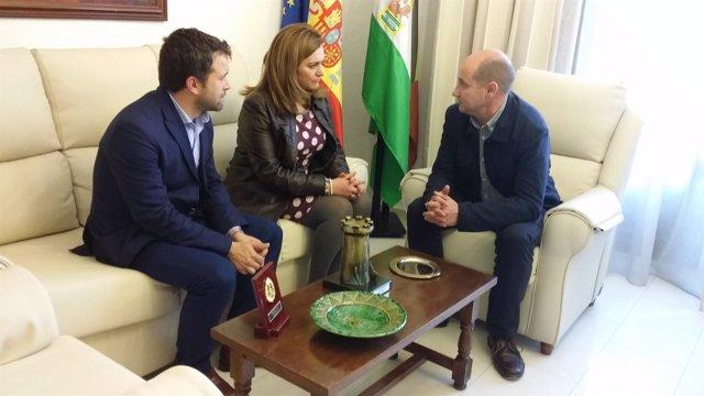 María Jesús Serrano, Julio Millán y José Luis Hidalgo