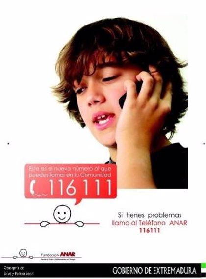 El Teléfono del Niño recibió 18.000 llamadas en 2013 en Extremadura