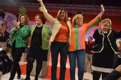 Díaz, Moreno y Maíllo se volcarán en la campaña de las europeas, sus primeras elecciones como líderes políticos
