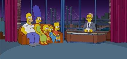 Los Simpson dicen adiós a David Letterman