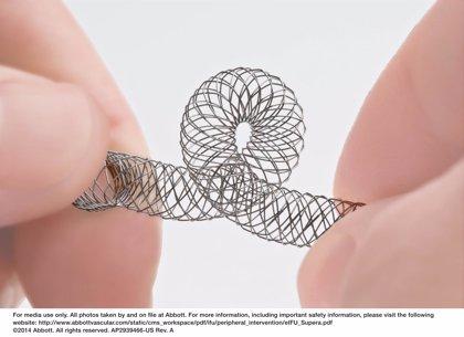La FDA prueba el stent periférico 'Supera' (Abbott) para tratar a personas con enfermedad arterial periférica