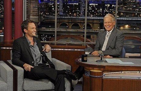 Neil Patrick Harris junto a Letterman en Late Show