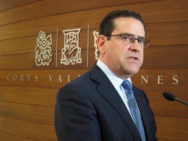El portavoz del PP en las Corts, Jorge Bellver. Archivo