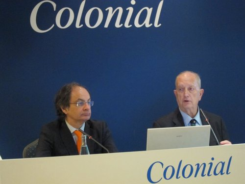 El consejero delegado y el presidente de Colonial, P.Viñolas y J.J.Bruguera