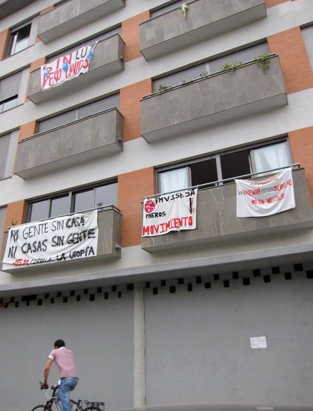 Imagen de archivo del bloque De Viviendas Ocupados Corrala La Utopía