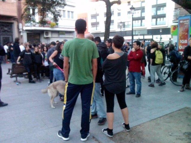 Protesta en Alcorcón por el desalojo de la Escuela Taller