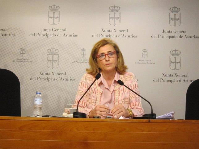 La diputada del PP en la Junta General del Principado, Victoria Delgado