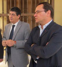 Diego Valderas, hoy junto a Francisco Javier Camacho