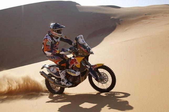 El piloto español Marc Coma en el Abu Dhabi Desert Challenge