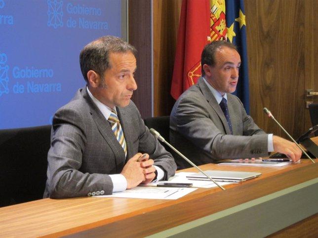 Juan Luis Sánchez de Muniáin y José Javier Esparza.