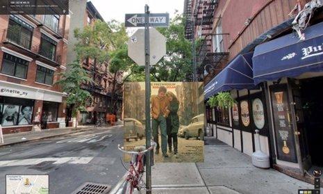 Las portadas de los clásicos de la música en Google Street View