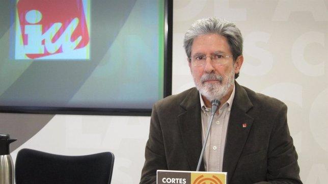El diputado de IU en las Cortes de Aragón, Adolfo Barrena