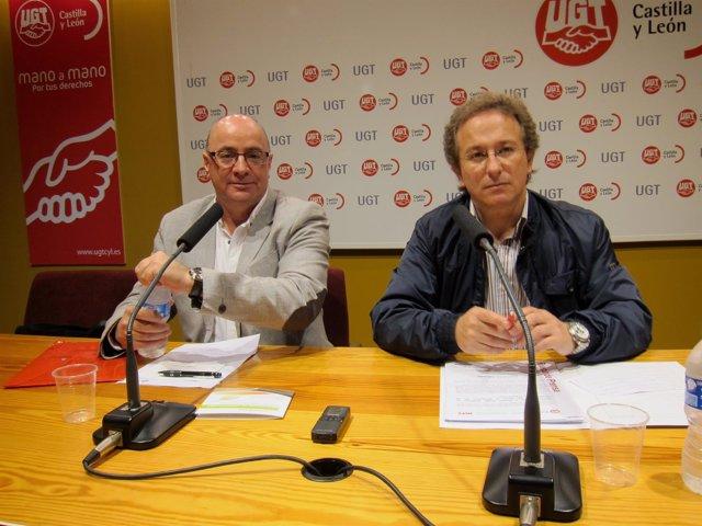 Carlos Romero y Pedro Hojas, secretarios nacional y regional de MCA-UGT